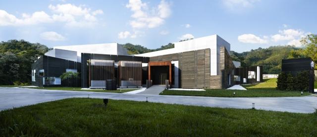 由于项目用地不规则,因此建筑设计事务所决定采用与设计传统大相径庭图片