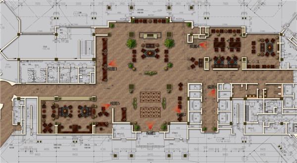山假日酒店大堂设计