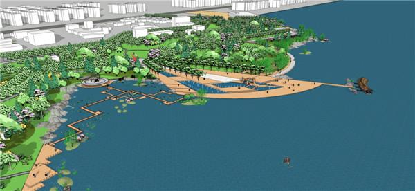 作品名称:居民区滨水景观设计