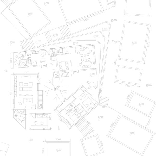 (院落单体设计一层平面图)
