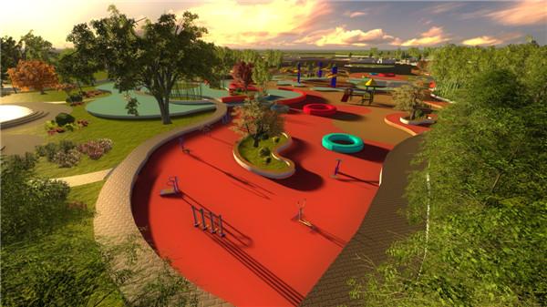 公园空间结构分析图