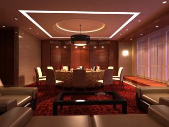 作品名称:四星级酒店大厅餐饮空间设计