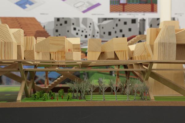 条带式文化广场手绘图平面图