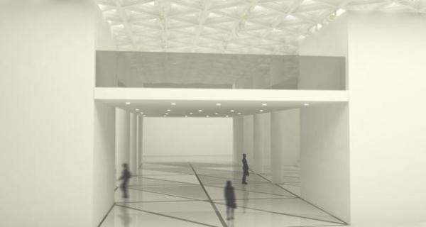 在临时展厅的照明设计上,主要是要考虑到灯位位置,高度,角度和光的图片