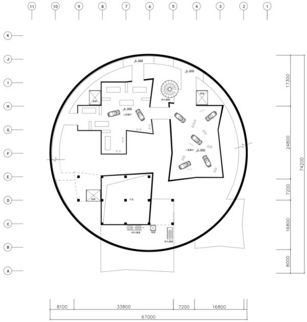 (越野文化博物馆二层平面图)