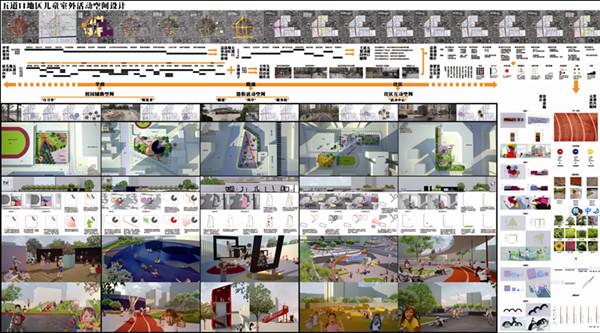 """(展板:城市儿童室外活动空间的构建—以北京市五道口地区为例)   一、研究背景及研究对象   通过调研毛晨悦发现,现在的城市显然无法被明确的划分成清晰的区域,而且社区关系和社区环境没有得到同样的发展,依然在用传统的""""圈地""""方式构建。而这种方式没有让社区存在的意义及社区的优势发挥最大价值,于是身处同一地域的人对社区的认同感很难自然形成。   在众多的社区人群中,毛晨悦更为关注的是儿童这个群体,因为他们对于空间环境的反应比成年人更为直接和活跃。儿童通过室外感知和体验来实现"""