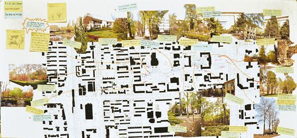 (图:方案景观设计平面图)