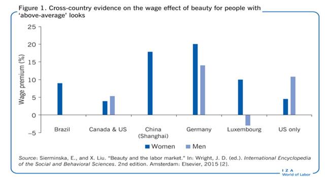 提高颜值就能提高收入 这是真的吗?